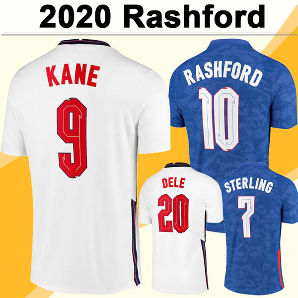 2020 KANE RASHFORD Mens Soccer Jerseys New STERLING GOMEZ Home Away Football Shirt DELE MADDISON TRIPPIER ROSE Short Adult Uniforms