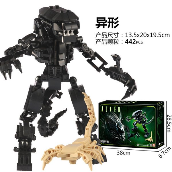 top popular Special-shaped series of Iron-blooded soldiers assemble childrens toys legoinglys DIY to educate childrens Christmas gifts 2020