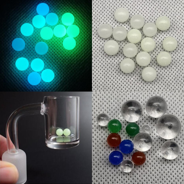top popular Luminous Glowing Quartz Terp Pearl Ball 4mm 6mm 8mm 10mm 12mm Colored Red Blue Green for banger Nail Dab Glass Bongs 2021