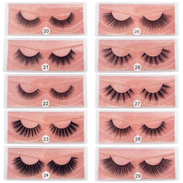 best selling New Top Seller 10styles 3D Mink Eyelashes Natural False Eyelashes Soft Make Up Lashes Extension Makeup Fake Eye Lashes 3D Series