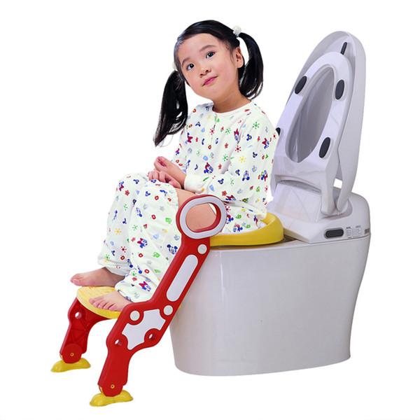 best selling Potty Children Baby Toilet Seat Baby Potty Training Folding Seat Adjustable Ladder Step Stool Infant Portable Pot For Children LJ201110