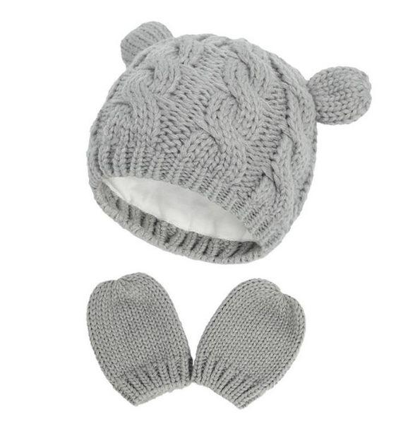 #3 baby hat mittens set