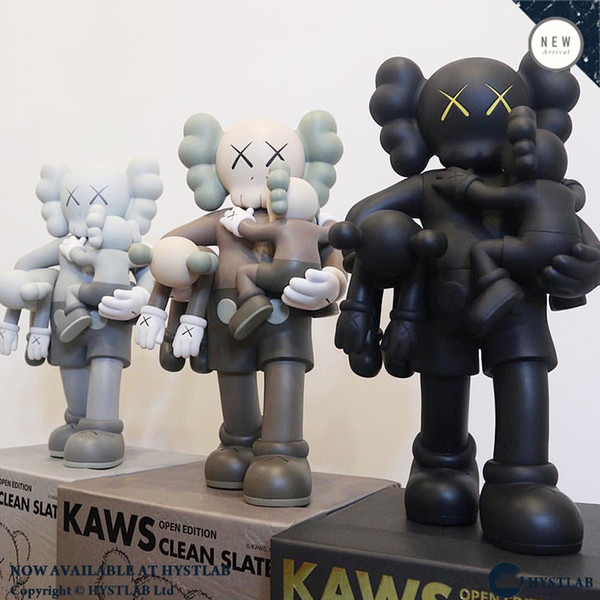 top popular HOT 38CM 1.7KG Originalfake KAWS 16inches Companion detachable and Hold the baby for Original Box KAWS Action Figure model decorations gift 2021