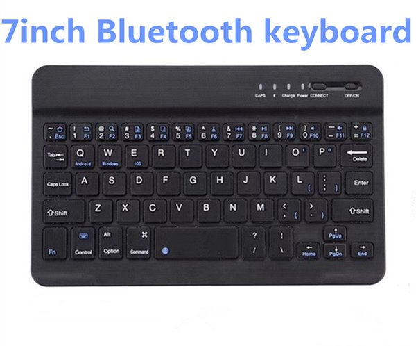 best selling DHL 10PCS Ultra Thin Bluetooth Keyboard 7 inch tablet wirelessly USES the mini tablet Bluetooth keyboard