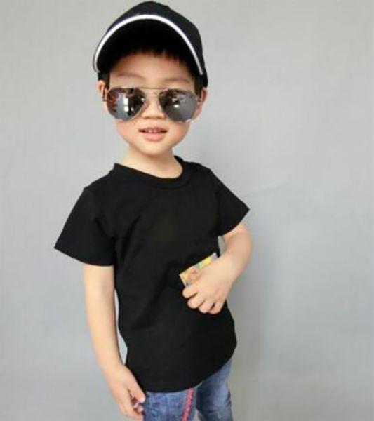 best selling 2019 Fashion Kids Girl 1-9 years t Shirt Children Lapel Short sleeves T shirt Boys Tops Clothing Brands Solid Tees Girls Cotton shirts ERWSA