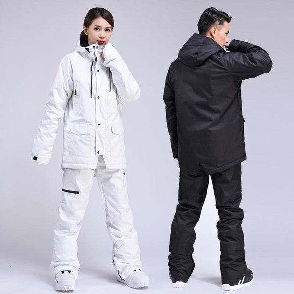 top popular New Thick Warm Ski Suit Women and men Waterproof Windproof Skiing and Snowboarding Jacket Pants Set Female Snow Costumes Outdoor 2021