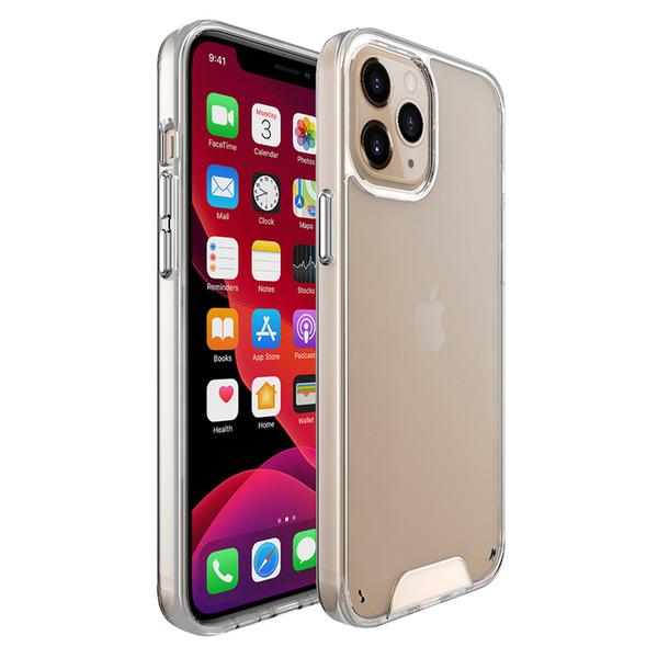 top popular Premium Space Transparent Rugged Clear TPU PC Shockproof Hard Case for iPhone 12 11 Pro Max XS XR X 6 7 8 Plus 2020