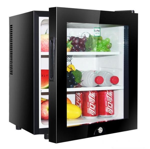 best selling 30L small mini hotel room refrigerator tea fresh glass door refrigerated display freezer factory direct sales