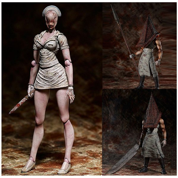 best selling 6inch Figma Sp-055 Silent Hill 2 Red Pyramd Thing Figure Bubble Head Nurse Sp-061 Action Figure Halloween Toy Doll Gift X0121