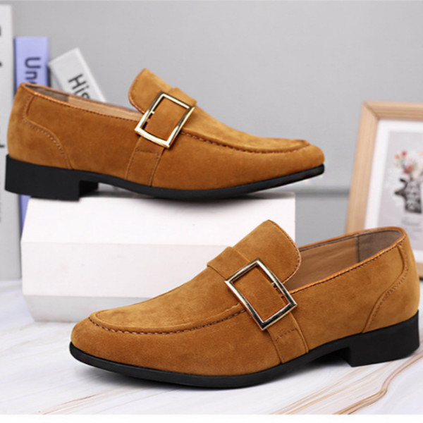 best selling man shoe Formal wear Frosted texture Men dressing business shoes Large size low-heel wear resistant and antiskid sole Comfortable leather