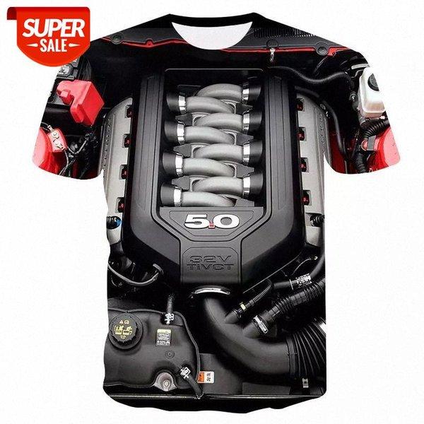 top popular Summer men's t-shirt Motorcycle T-shirt Punk Clothing Retro Clothes Mechanical Tshirt Tops Tees Men Funny 3d t-shirt #311n 2021