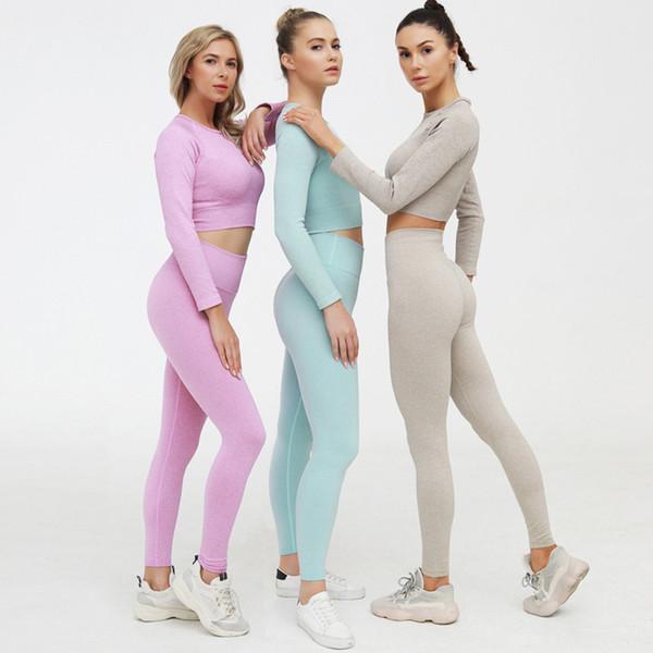best selling Hot Sale!2 Piece Women Sports Set Workout Clothes Tracksuit Women Sports Bra Leggings Set Female Gym Clothing Suits Athletic Sets