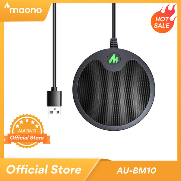 onsumer Electronics MAONO BM10 USB Conference Boundary Microphone Omnidirectional Condenser Microfono Plug & Play PC Mic for Gaming Youtu...