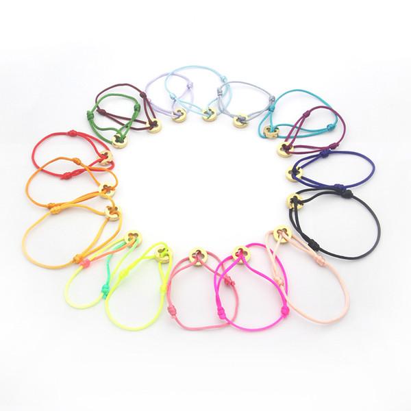 top popular Fashion Women Bangle Handmade Rope Chain Bracelet Charm Titanium Stainless Steel three circles Carter 2021