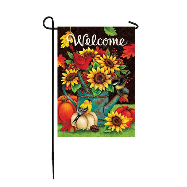 best selling Sublimation Polyester Fiber Blank Garden Flag for Valentine's Day Easter Day Hot Transfer Printing Banner Flags Consumables SALES D102904