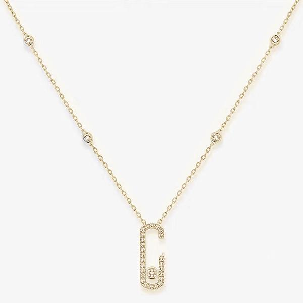 Colar de ouro-925 prata