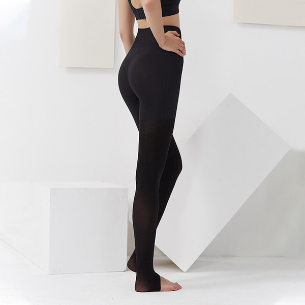 top popular Hot Sale! New European and American Yoga Pants Women's High-waist Stretch Tight-fitting Foot Track Pants Quick-drying and Breathable 2021