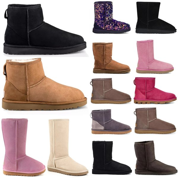 best selling 2021 Designer women australia australian boots winter snow furry satin boot ankle booties fur leather outdoors shoes #985