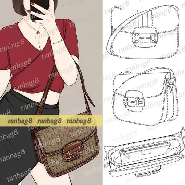 top popular High Quality Shoulder Bag Medium 25cm Saddle Handbag PVC Women's Fashion Crossbody Bag Purse 602204 2020