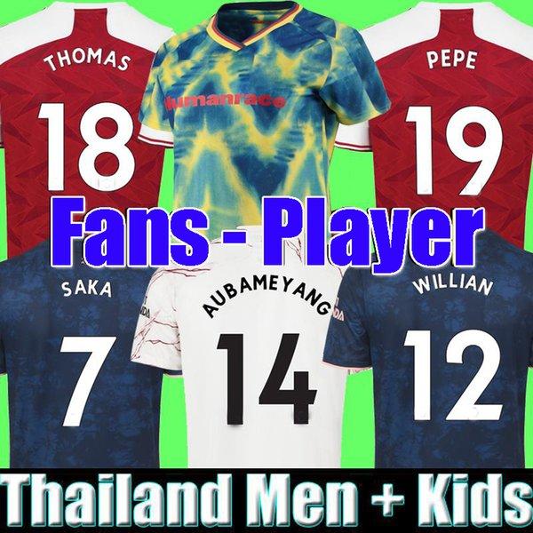 top popular Fans Player version Arsen 4th soccer jersey 20 21 PEPE SAKA NICOLAS TIERNEY HENRY WILLIAN MAITLAND-NILES 2020 2021 football shirts Men KidS 2020