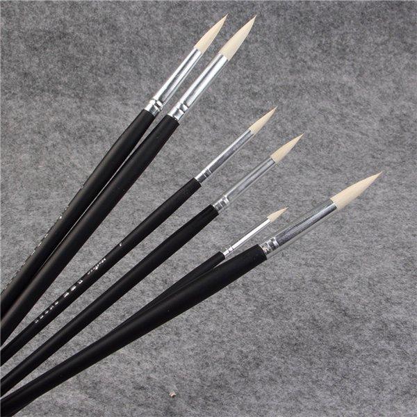 top popular 6pcs Set goat hair paintbrush suit art supplies watercolor Gouache Painting pen acrylic brush Set Drawing Art Supplies 2021