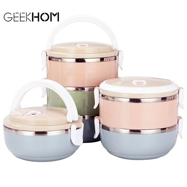 top popular Lunchbox Japanese Bento Box Leak-Proof Food Container For Kids Portable Outdoor Stainless Steel Kitchen Food Box 201210 2021