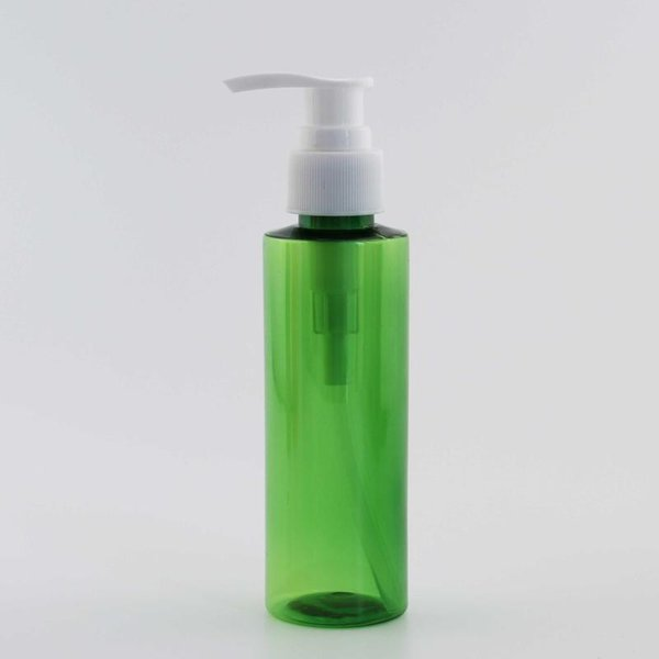 120ml Green Bottle White Plastic