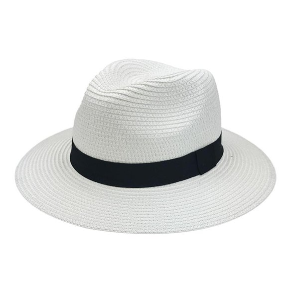 Panamá de palha branca