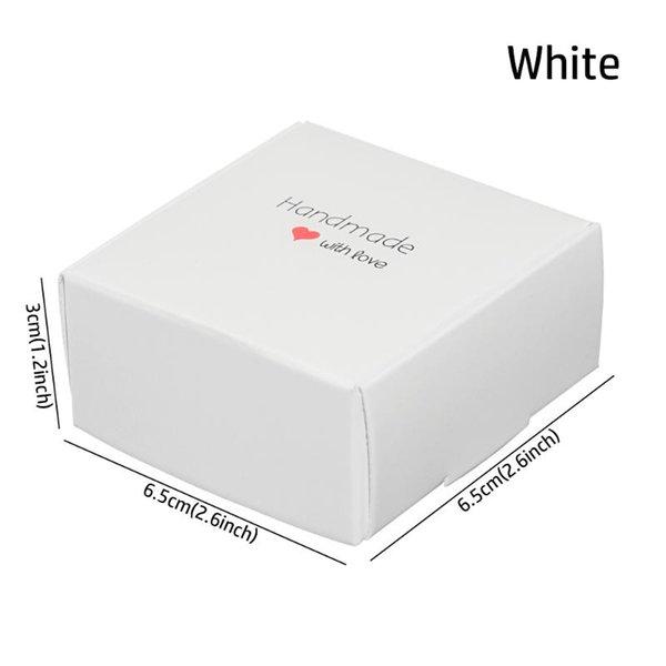 6,5x6,5x3cm Weiß
