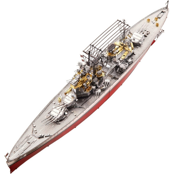 top popular Piececool Figure Toy HMS PRINCE OF WALES BOAT DIY laser cutting Jigsaw 3D Metal puzzle model Nano Puzzle Toys for children Y200421 2021