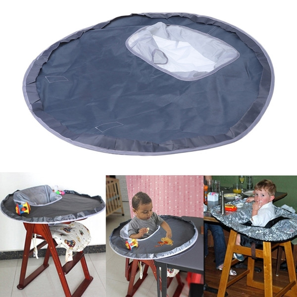best selling Baby Eating Table Mat Feeding Chair Cushion Waterproof Round Folding Infants Pad A Bibs As A Gift LJ201110