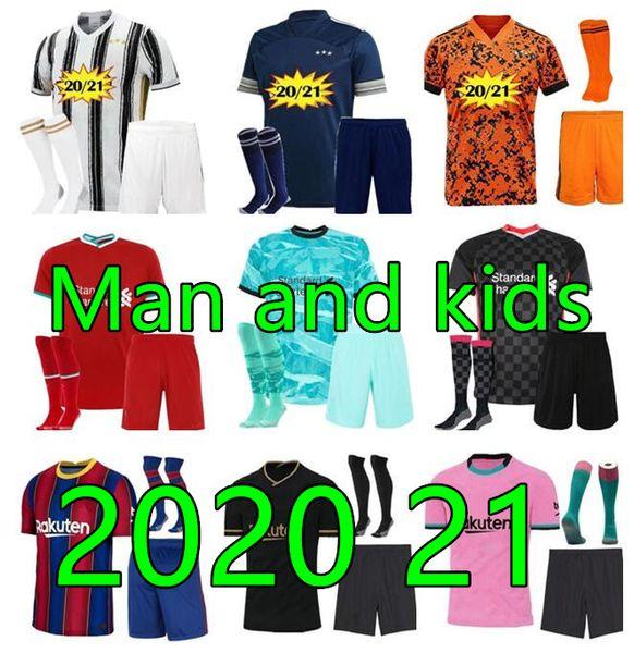 2021 men and kids home away 3rd soccer jerseys football Jerseys 21 22 Football shirt kit black kids football kits 20 21