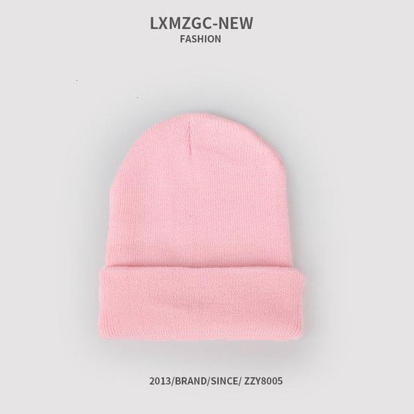 Sombrero de punto fluorescente - rosa