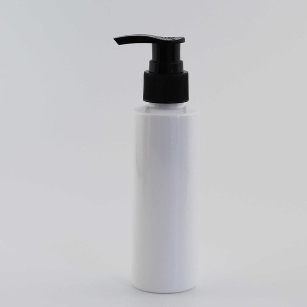 120ml White Bottle Black Plastic