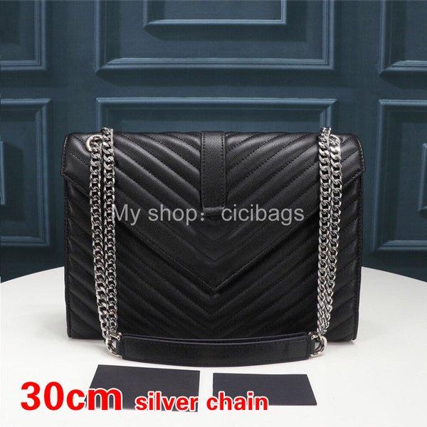 V Black Silver-30cm