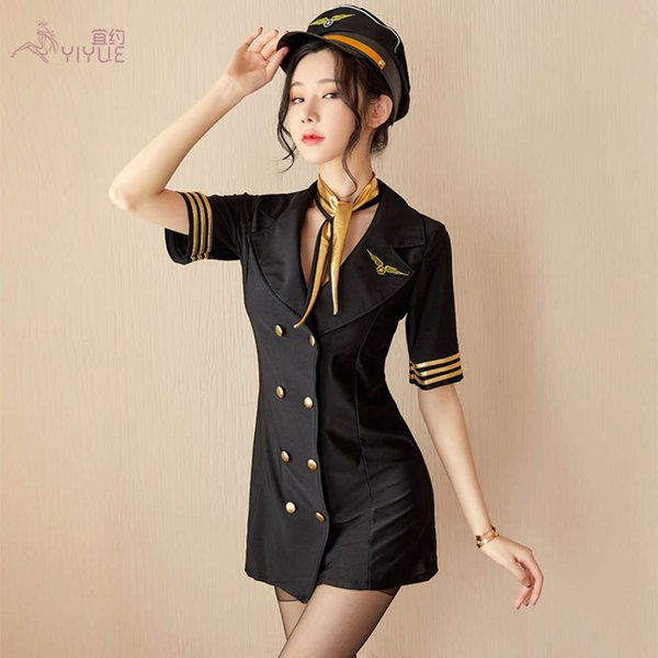 Stewardess Suit + Hat-M