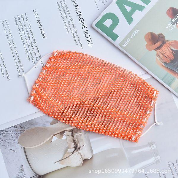 Weißer Diamant mit orangefarbener Backgro # 51359