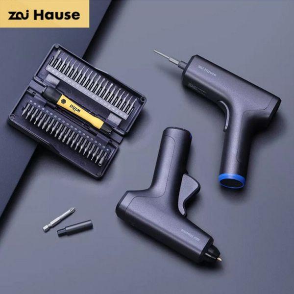 top popular Original Xiaomi Youpin Zai House Electric Screwdriver Set Hot Melt Glue Gun Precision Screwdriver Set Repair Tools Repair Tools for Smart Ho 2021