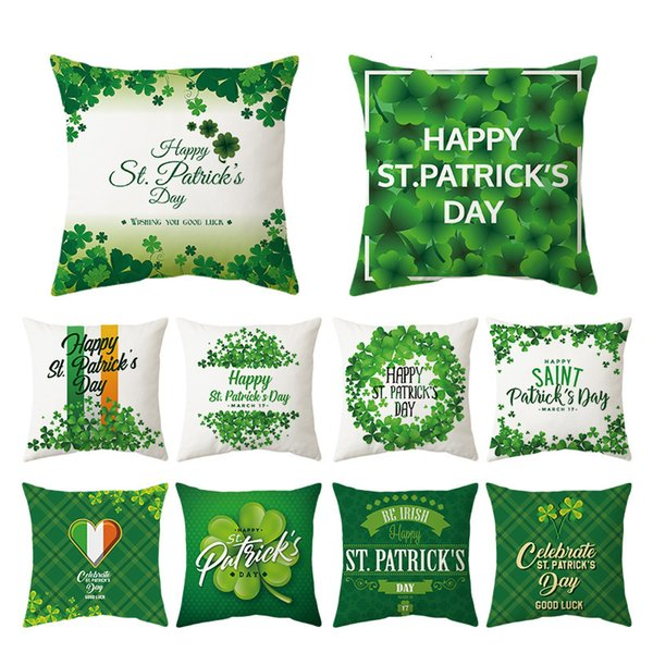 top popular Skin St. Patrick's Day Green Peach Pillow Case 2021