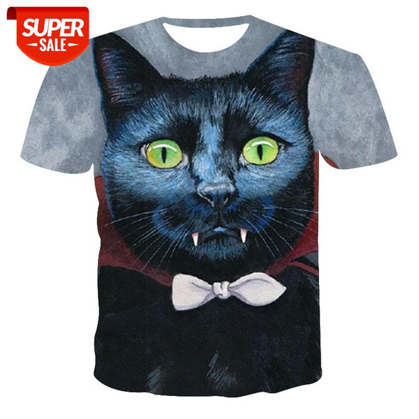 top popular New T-shirt Men's Breathable High Quality Men's T-shirt Women's Short Sleeve Cat 3D Printing Fashion Cool #ux9W 2021