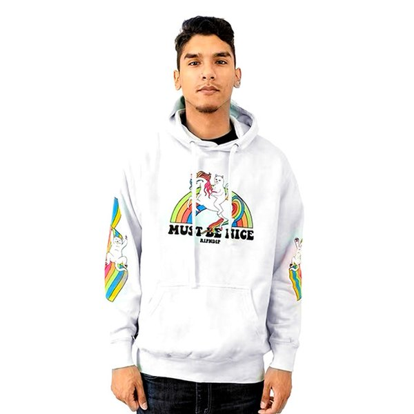 top popular NEW RIPDIP SweatshirtS Letters Printed Mens Casual Hoodies Hooded High Street Pullover Male Female Hip Hop Sweatshirts 2020