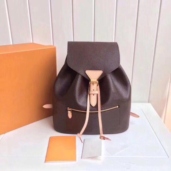 top popular Wholesale backpack for women Genuine leather back pack lady shoulder bag handbag presbyopic mini package messenger bag two way new 2020