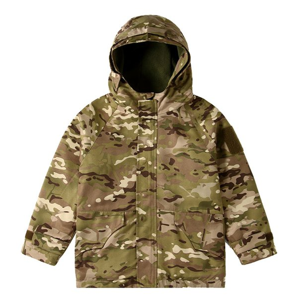 top popular Outdoor Sports Airsoft Gear Jungle Hunting Woodland Shooting Coat Combat Children Clothing Camouflage Kid Child Jacket P05-224A 2021
