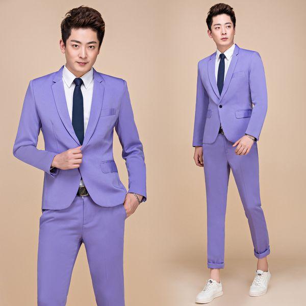 Pantalones de chaqueta violeta