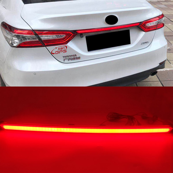 best selling Rear Bumper Tail Light For Toyota Camry 2018 2019 2020 Red LED Taillight Reflector Brake Lamp turn Signal