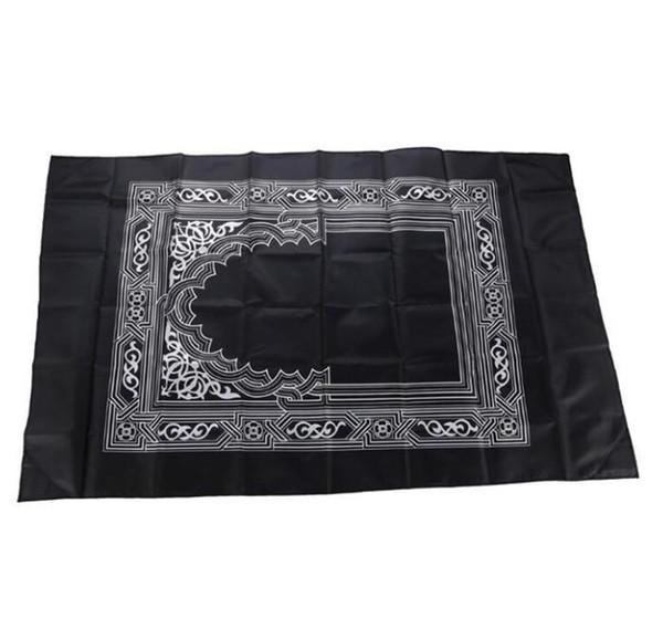 top popular Islamic Prayer Portable Rug Braided Mat carpet Zipper Compass Blankets Travel Pocket Rugs Muslim Worship Blanket WQ129-WLL 2021