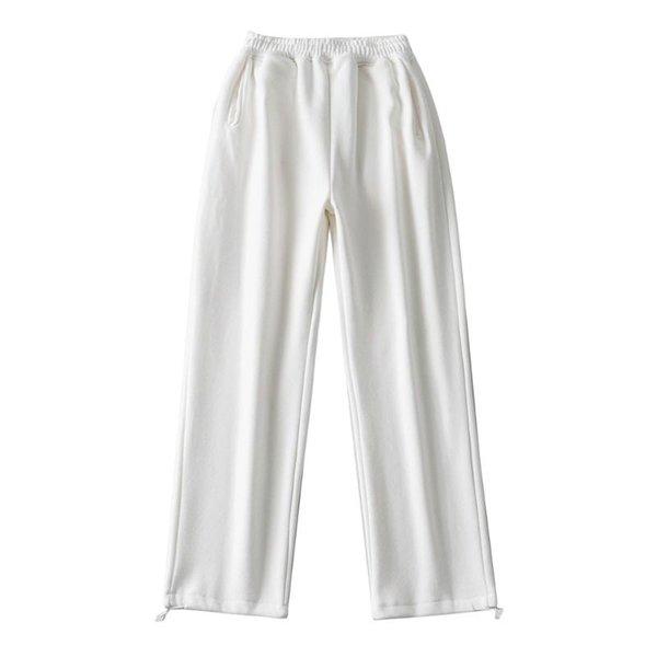 Pantalones de vellón blanco