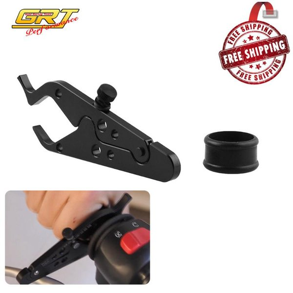 top popular Universal Motorcycle Adventure Cruise Throttle Clamp With Rubber Ring Handlebar Black Scooter Cruise Control Assist MB-OT312 2021
