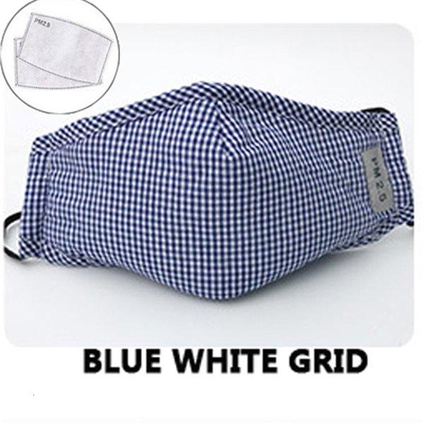 Blau Weiß Grid