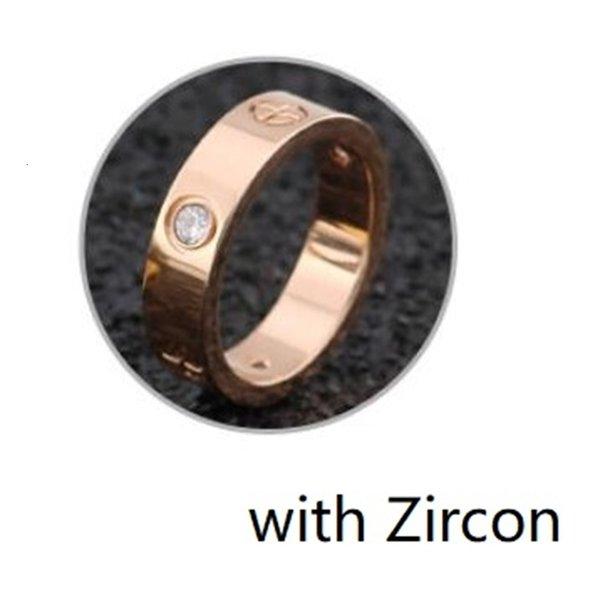 Or rose avec zirconium